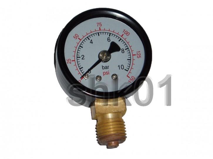 "Manometer Rohrfeder 4  6 10 16 25bar 1/8"" 1/4"" 3/8"" Ø 40 50 60 80mm axial radial"