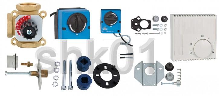 Dreiwege-Mischer Stellmotor Festwertregler Fernbedienung Anbausatz Adapter