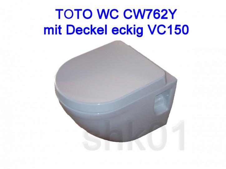 Wand WC TOTO NC weiß CW762Y Sitz VC150 VC100R Tornado Flush CeFiONtect