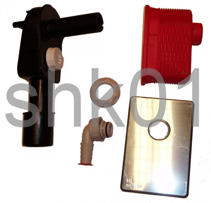Dallmer HL 400 Wandeinbau-Unterputz-Waschgeräte-Waschmaschinen-Siphon UP Sifon