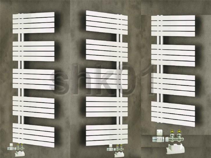 Xilo50 Designheizkörper Badheizköper multiblock Uni SH weiß Design Heizkörper