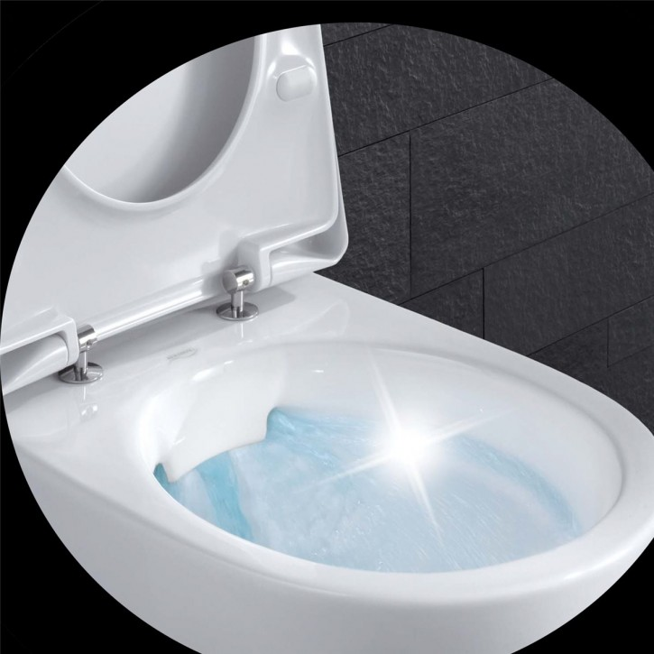 Keramag Renova No1Rimfree®Wand-WC203050spülrandlos+WC-Sitz randlos ohne Spülrand