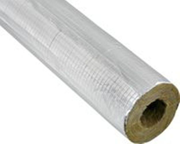Alukaschierte Steinwolle 50%100% EnEV Rohrschalen ALU Rohrschale Isolierung Rohr