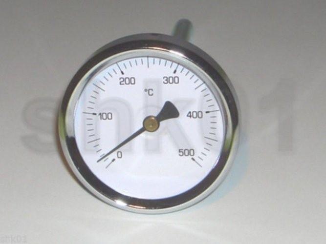 Thermometer Rauchgas 500 °C 150 200 300 mm Tauchhülse Rauchgasthermometer