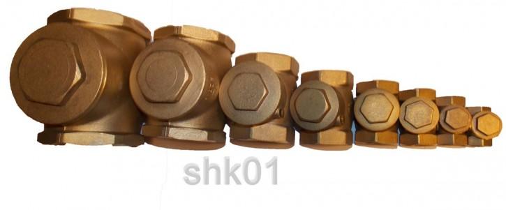 Messing Rückschlagklappe metall dichtend Rückschlagventil Rückflussverhinderer