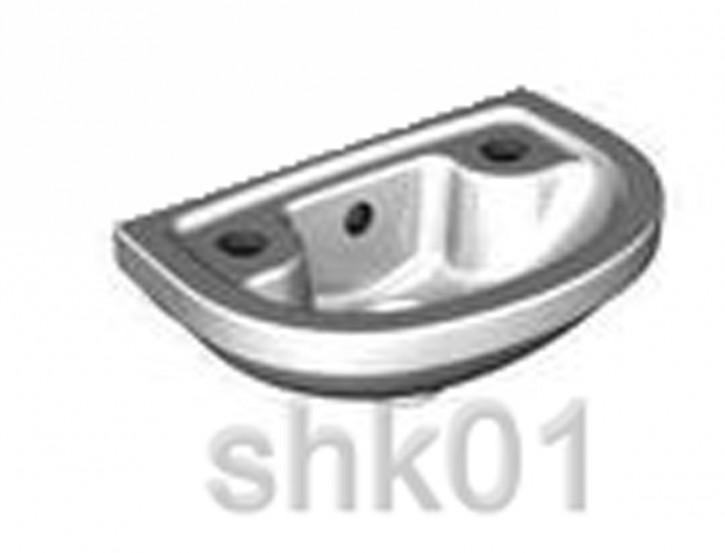 DIANA PLUS Vitra Compact Handwaschbecken 38cm DI003332001 weiß Waschtisch Waschbecken