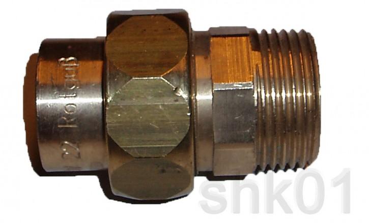 """Verschraubung 4341G 22mm x 3/4"""" AG konisch dichtend Fitting Lötfitting Rotguss"""