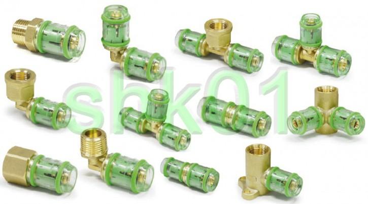 System-Steckfitting Fitting Alu Verbundrohr Winkel T-Stück Pressfitting