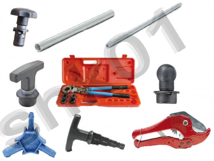 Presswerkzeug TH-Kontur Pressfitting Alu-Verbundrohr PE x RT Hand-Presszange