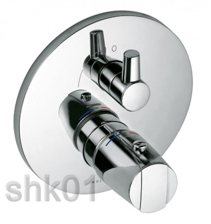 Kludi 358350538 Unterputz-Thermostatarmatur Feinbau-Set mit Absperrventil chrom