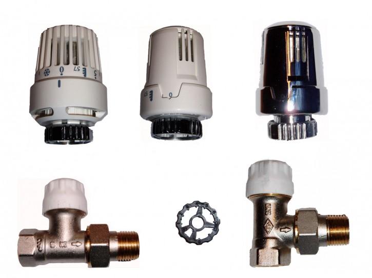 Thermostatkopf+Ventil-Unterteil M30x1,5Heimeier-kompatibel Heizkörper Thermostat