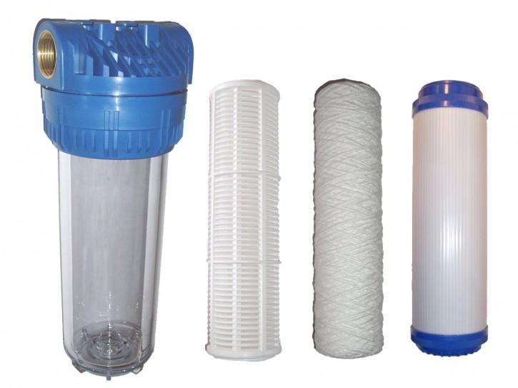 Wasserfilter Vorfilter mit ohne Kartusche Aktivkohle Hauswasserwerk Pumpen