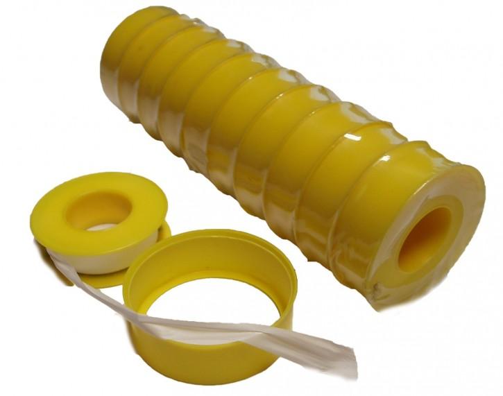"Dichtband PTFE Teflon Band 12 m 12 mm 0,1 mm  Grob-Gewinde 3/8 - 1"" ab 1,69€/St"