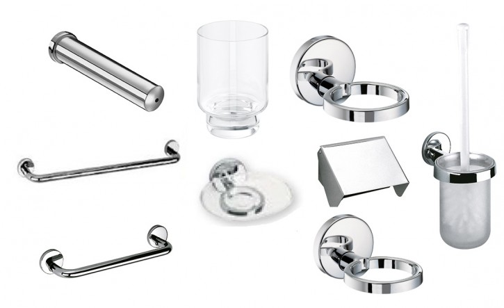 DIANA AKTIV Accessoires Badausstattung Halter f Seife Glas Papier Badetuch Wanne