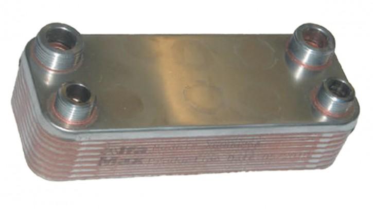 """Plattenwärmetauscher 208 x 75 mit Gewinde Wärmetauscher Edelstahl Inox 3/4"""" AG"""