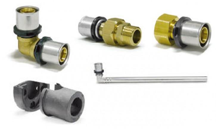 System-Pressfitting Verbundrohr DVGW Übergang Winkel Schallschutz