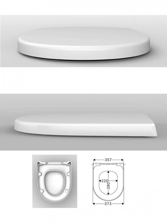 Haro WC-Sitz weiß 516974 mit Edelstahl-Scharnier T4802P Quick up