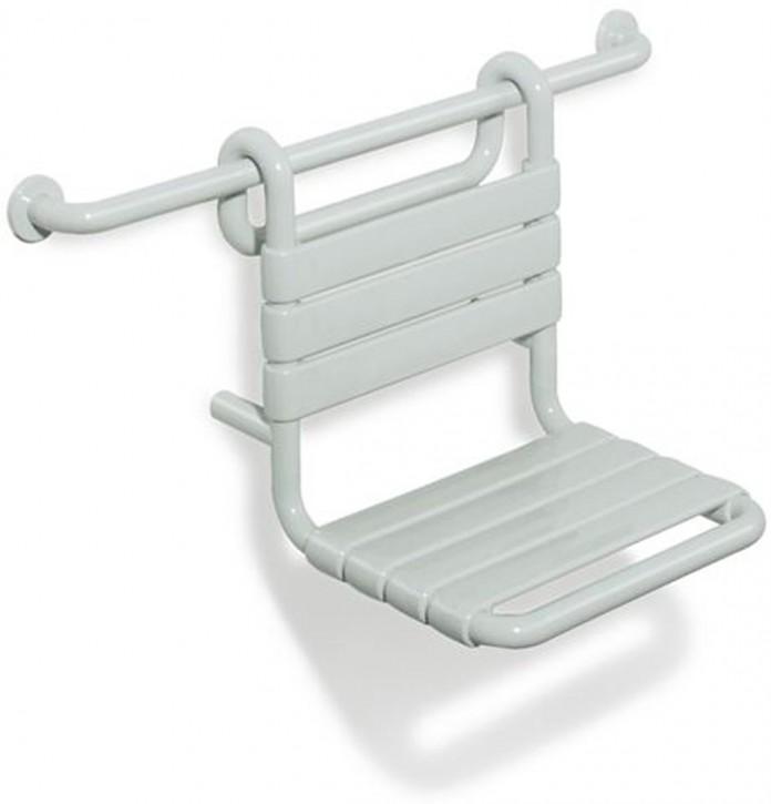 HEWI Einhängesitz Serie 801 Barrierefrei Sitz B:345mm T:480mm reinweiß