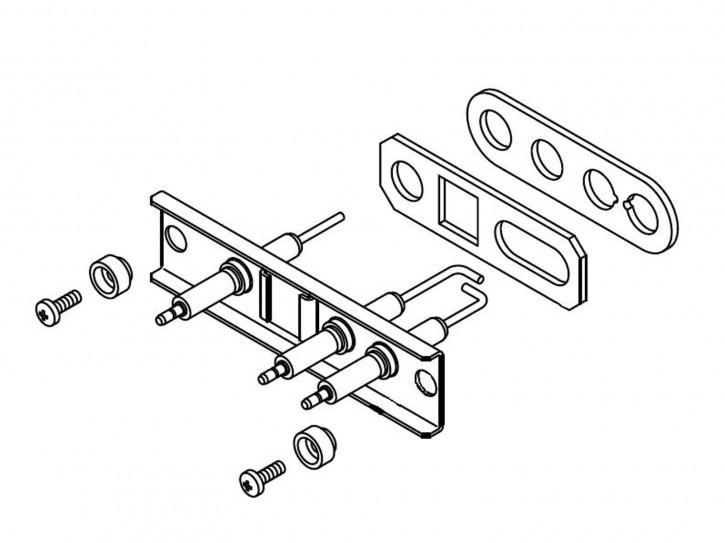 Junkers Elektrodensatz Elektrode für ZSBR ZBR ZWBR 7-25 ZB ZWB ZBS KBR Zündung