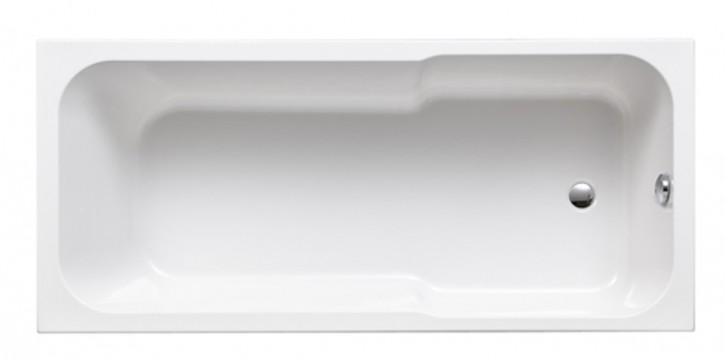 VIGOUR Derby Kombiwanne Badewanne Acryl 180x80cm Fussablauf Überlauf mittig weiss