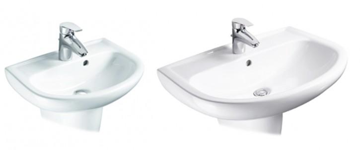 VIGOUR derby Waschtisch Handwaschbecken Waschbecken 45,50,55,60,65,70 cm weiss
