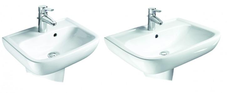 VIGOUR derby style Waschtisch Handwaschbecken Waschbecken 45,50,55,60,65cm weiss