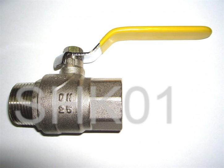Kugelhahn 1/2 3/4 1 Zoll Hebel IG x AG DVGW Gas EN331 Wasser Öl Druckluft