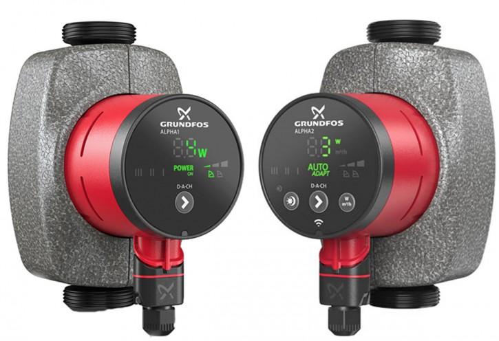 Grundfos Nassläufer-Umwälzpumpe neu Heizung Alpha1, Alpha2 130-180mm DN15-32 1-8