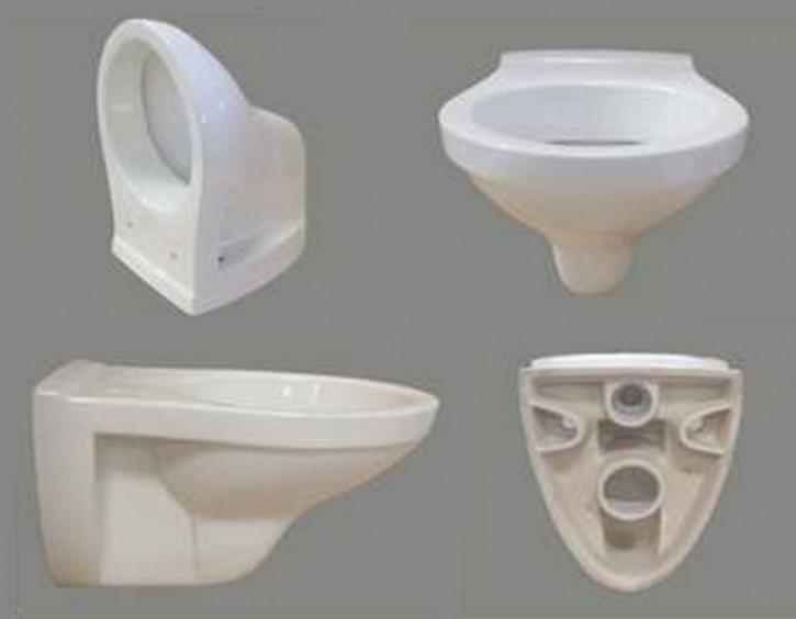 SOLO Wand-Tiefspül-WC weiss mit Spülrand Toilette Klosett Abbort Klo