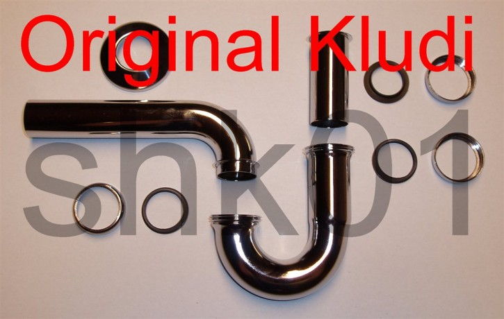 Röhrensifon Kludi chrom f. Waschtisch Röhrengeruchverschluß Siphon ab 6,30€/St