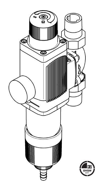Judo Gubi-E Hauswasserstation 1 Zoll DN 25 Wasserfilter Druckminderer Manometer