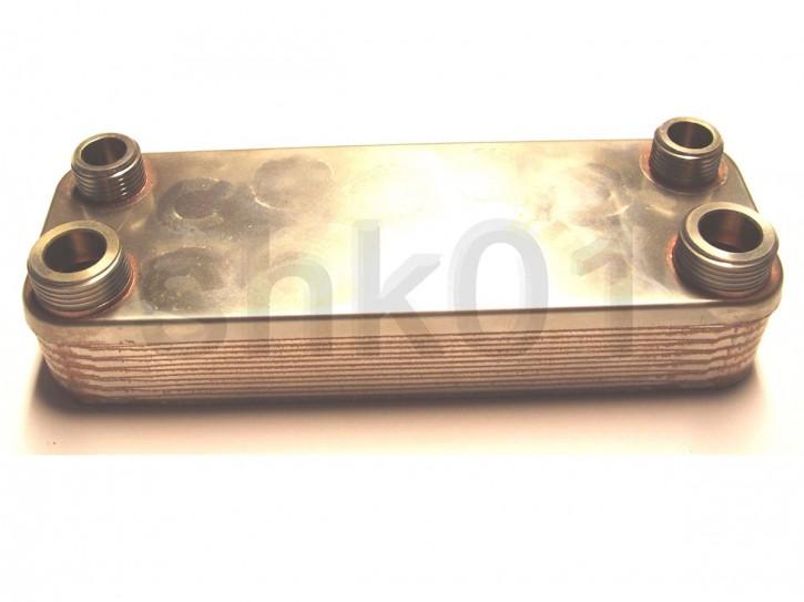 """Plattenwärmetauscher Wärmetauscher Edelstahl Inox 3/4"""" AG"""
