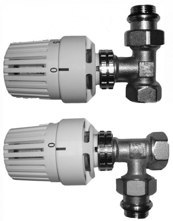 Set Thermostatkopf+Ventil-Unterteil Thermostatventil Heizkörper