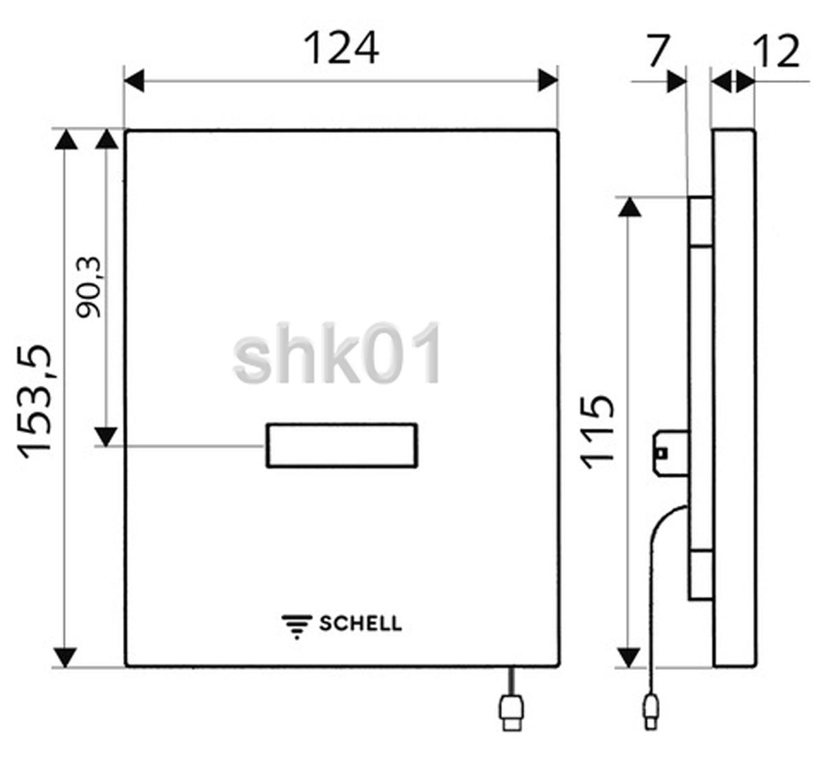 Schell Urinalsteuerung Edition E Netzbetrieb Wandeinbau