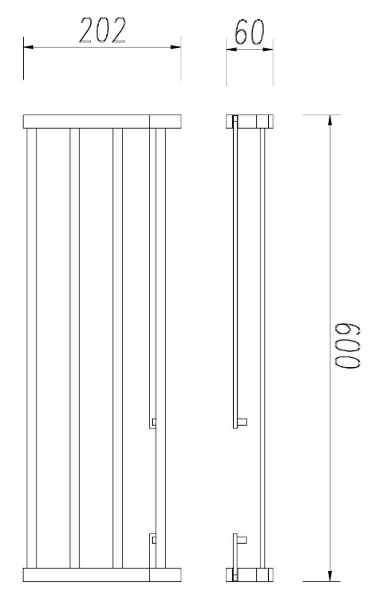 Evenes Handtuchablage Wandhandtuchhalter Handtuchhalter 600mm Accessoires ERMINA