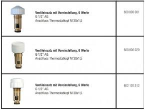 Ventileinsatz  Heimeier Oventop  ECA Thermostatventil Thermostatköpfe Oberteil