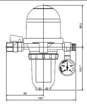 Oventrop Artiga Heizölfilter-Entlüfter-Kombination Toc Duo 3 mit Siku-Einsatz