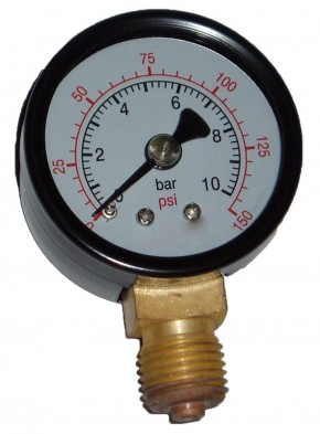 1/2 Druckminderer 1 – 6 bar mit  Manometer 10 bar rad. 40 mm