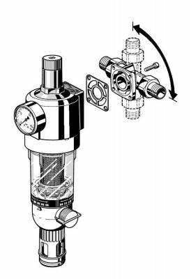 "baugl Honeywell Primus FK 74C 1"" Rückspülfilter Druckminderer Filterkombination Buderus Logafix"
